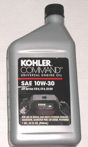 Sae 30 Oil >> Kohler 10W30 Oil