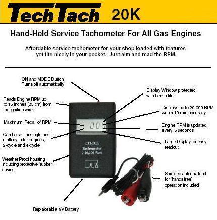 DTI TECH-TACH TT-20K Tachometer